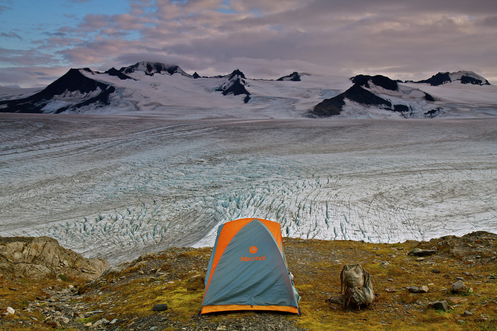 Camping Above the Massive Icefield.jpg