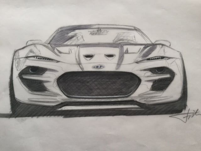 1. HENRIK FISKER FORCE 1 SUPERCAR IDEA SKETCH