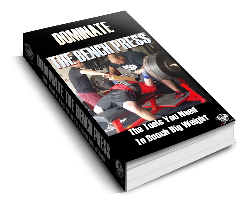 Dominate The Bench Press - FREE 31 Page eBook! Sign up to our newsletter below and you'll receive a download link in minutes! Whats Included?- 20 Bench Pressing Cues - 3 Program Templates- Benching Mistakes To Avoid- Bench Press Q&A- Picture Illustration