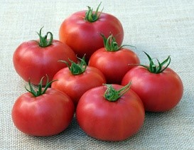 Eva Purple Ball - A farm favorite! excellent flavor in a smaller tomato, quite prolific. 70 days to harvest.