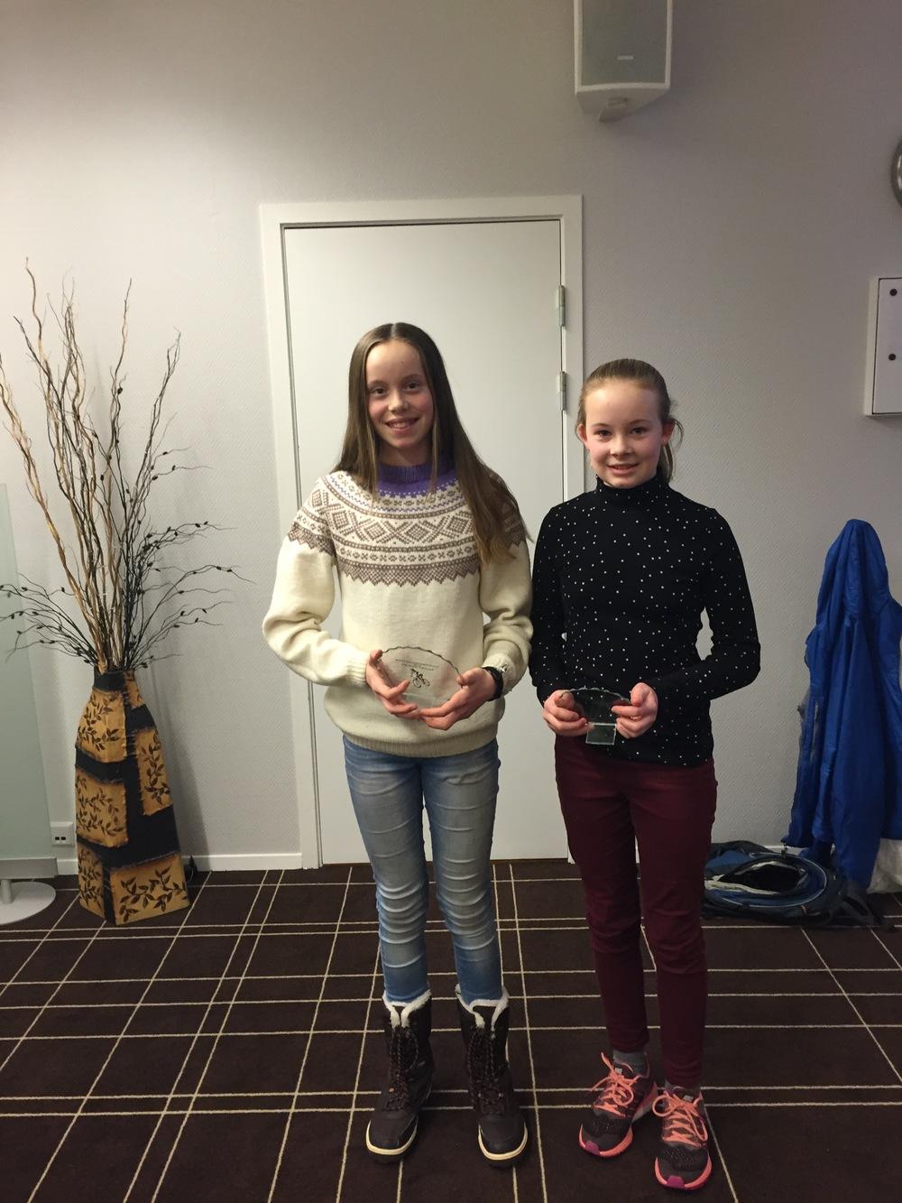 Klubbmesterskap terreng: 1. Hanne Kjos, nr 2 Ingrid Grüner, nr 3 ble Ingeborg Hole (ikke på bildet)