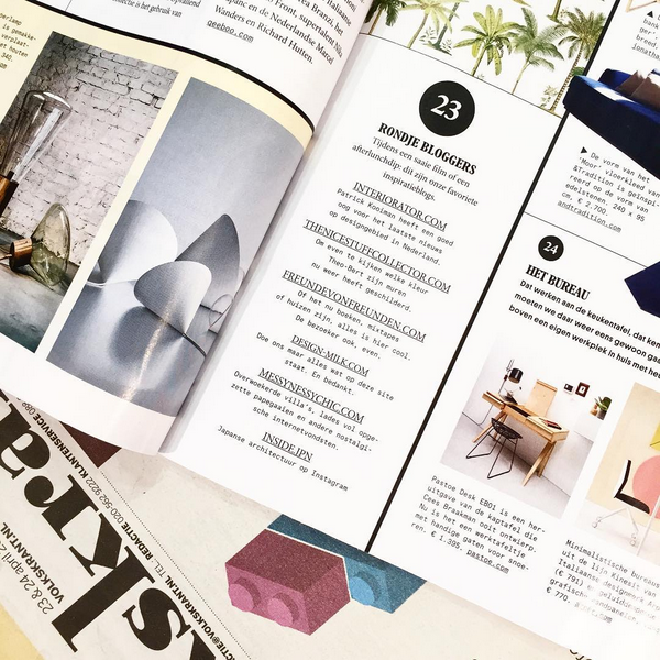 VOLKSKRANT MAGAZINE THE NICE STUFF COLLECTOR THEO-BERT POT INTERIOR BLOG INTERIEUR BLOG TB