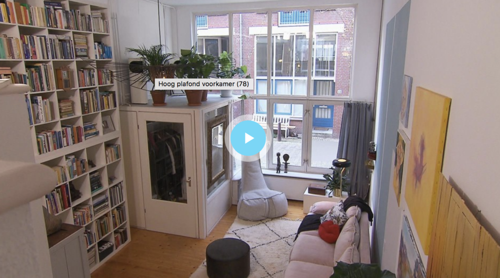 TV programma Binnenste Buiten make-over woonkamer in de Jordaan ...