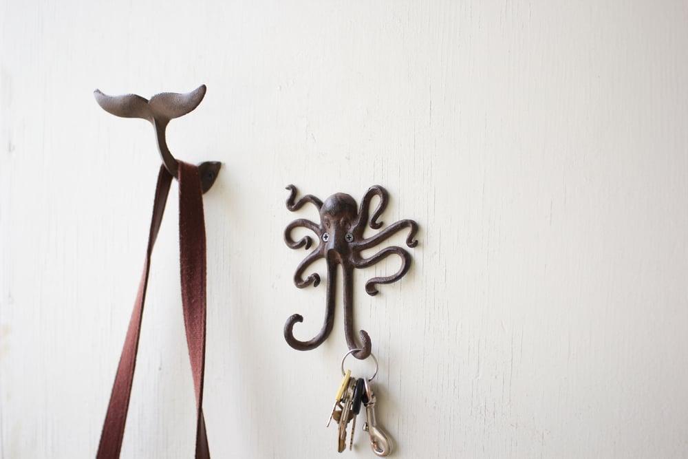 Cast Iron Octopus Wall Hook by Kalalou