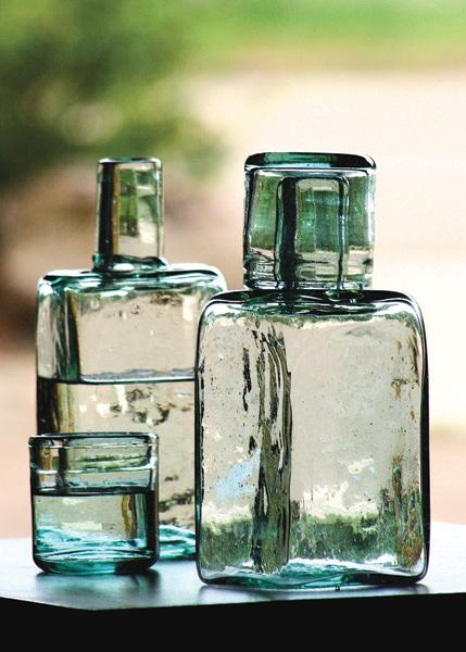 Recycled Glass Decanters