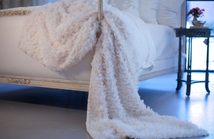Coco White Sheer Throw