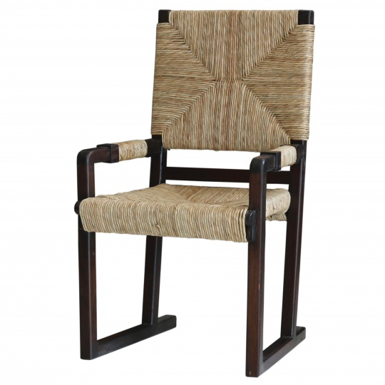 Woven Dining Chair with Arm