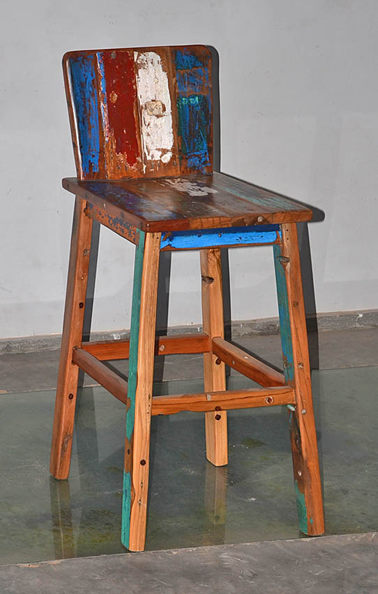 Retro Boatwood Barstool