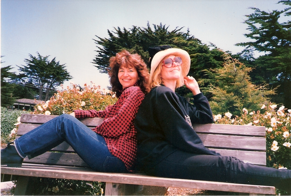 "Kim and me in the Carmel ""old days"""