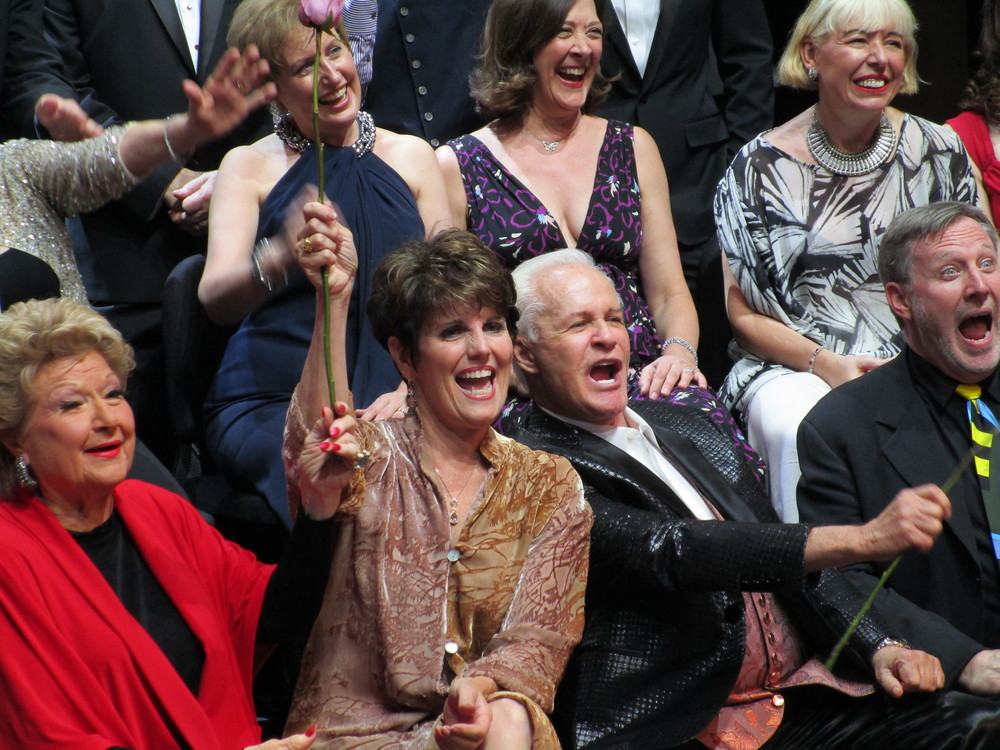 Marilyn Maye, Lucie Arnaz, Michael Childers, and MD John McDaniel celebrate their show!!!