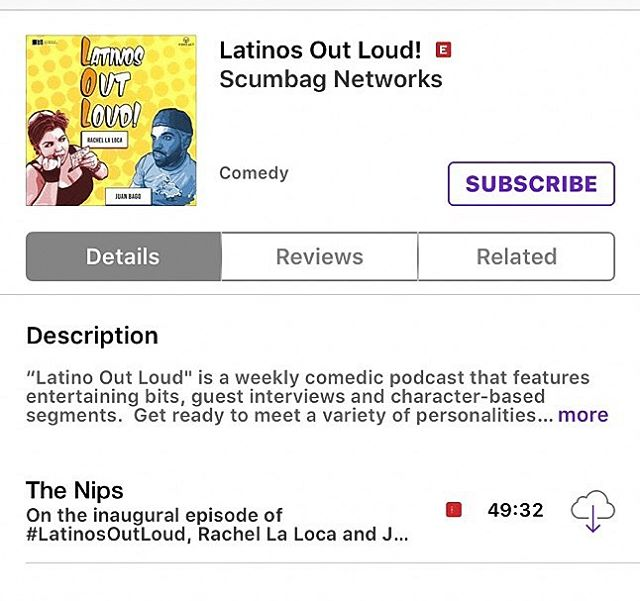 Check out Room 28's own @rachellaloca and @juanbago on their new podcast @wearelatinosoutloud Episode 1 is live on @itunes @googleplaymusic and @spreaker_