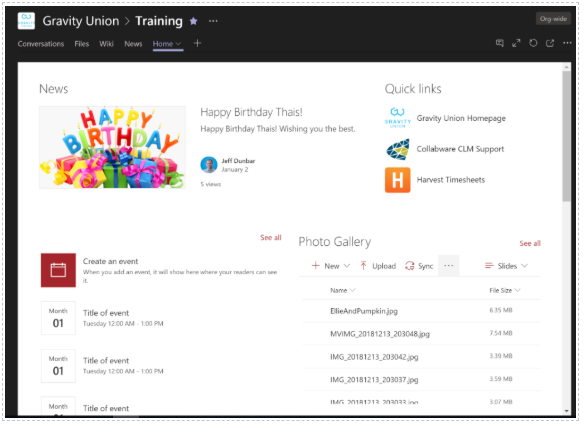 Gravity-Union-Interacting-with-SharePoint-Pages-within-Teams.