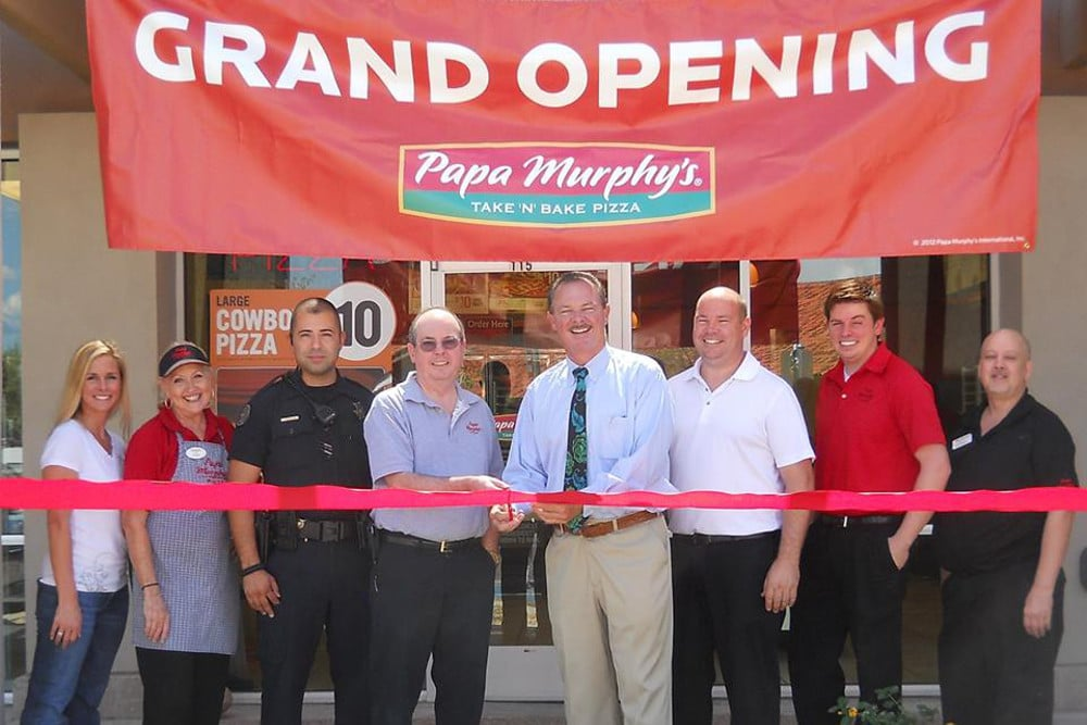 NOW OPEN!! - Papa Murphy's Take 'N' Bake Pizza of Scottsdale, AZ celebrates it's official grand opening at 8912 E. Via Linda, in the Fry's Marketplace Plaza.