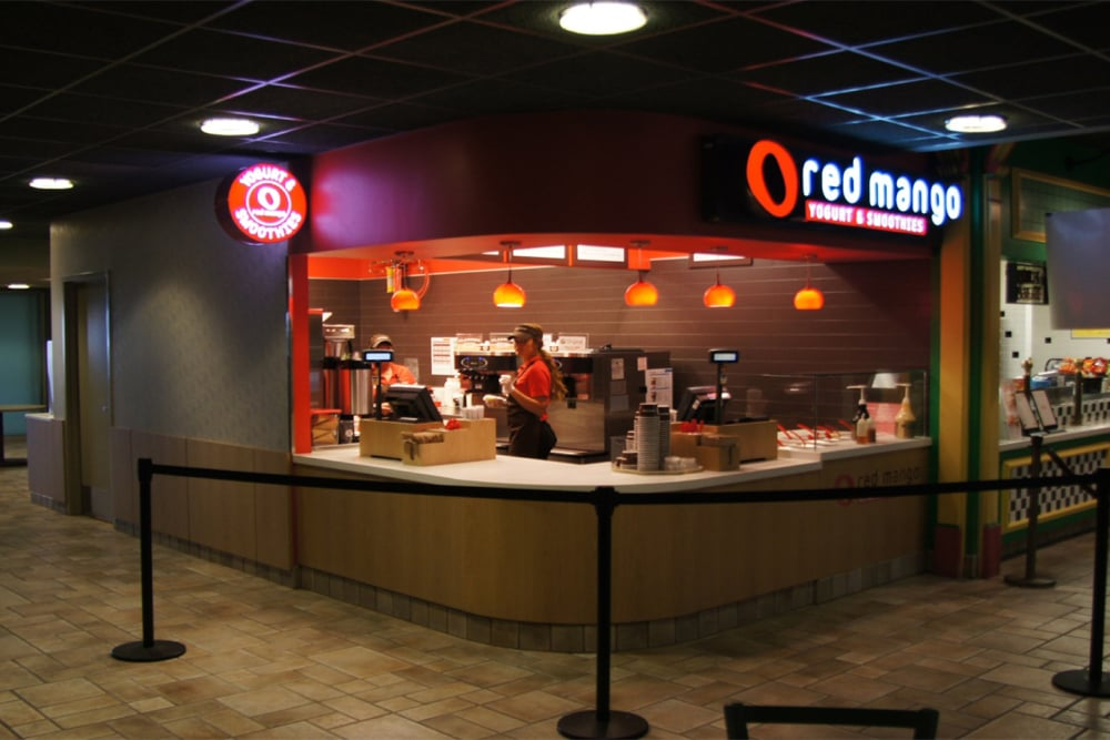 NOW OPEN!! - Wilkus Architects partners with Red Mango Frozen Yogurt to design their first concept location for Bloomington, IL.
