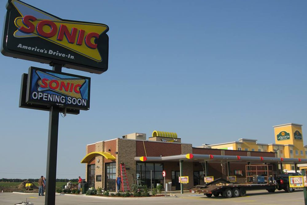NOW OPEN!! - Sonic Drive-In partners with Wilkus Architects and local franchisee to open their newest location in Minot, ND.