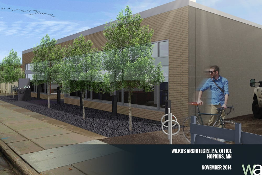 Wilkus Architects P.A. - Hopkins, MN Office - Exterior Rendering2