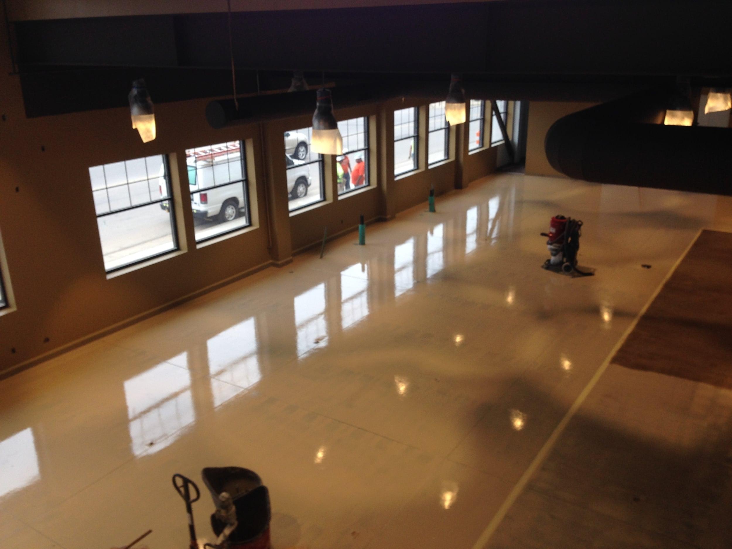 Produce Floor Finish Prep from Mezzanine