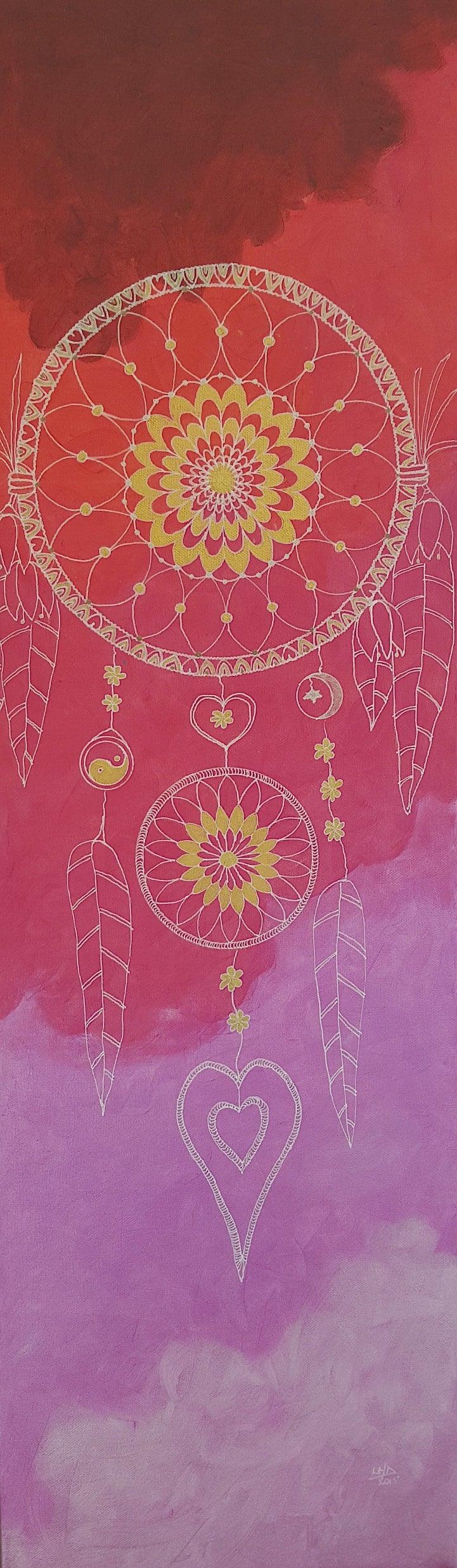 Pink Dreamcatcher by Lynn Hanford-Day