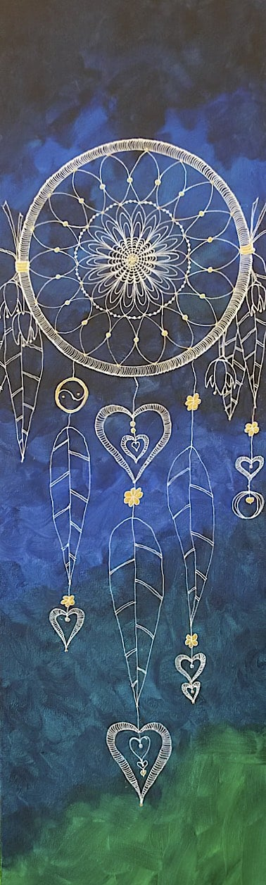 Blue & Green Dreamcatcher by Lynn Hanford-Day