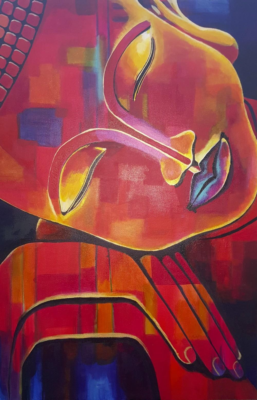Red Buddha by Lynn Hanford-Day