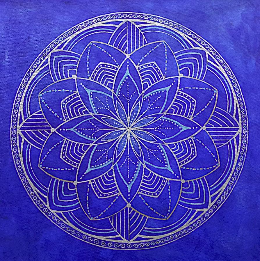 Blue Mandala by Lynn Hanford-Day