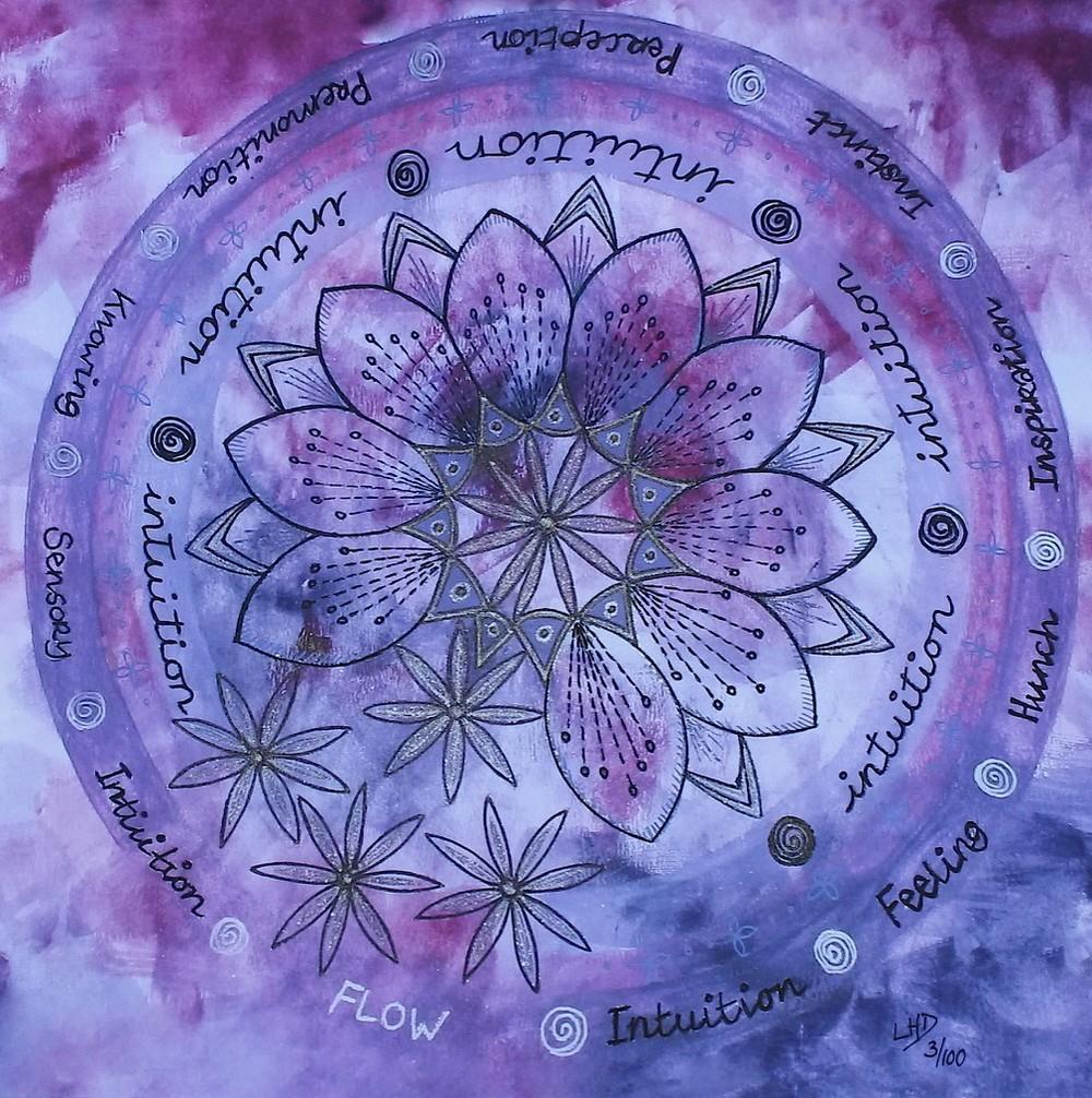 Purple Intuition Mandala by Lynn Hanford-Day