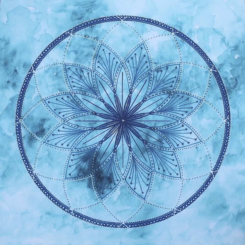 Turquoise Mandala by Lynn Hanford-Day