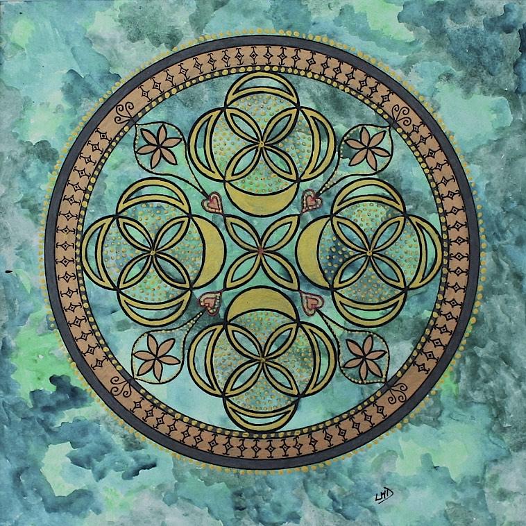 Green Mandala by Lynn Hanford-Day