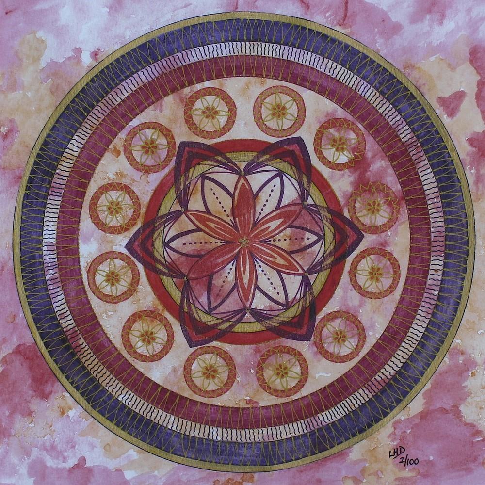 Red Mandala by Lynn Hanford-Day