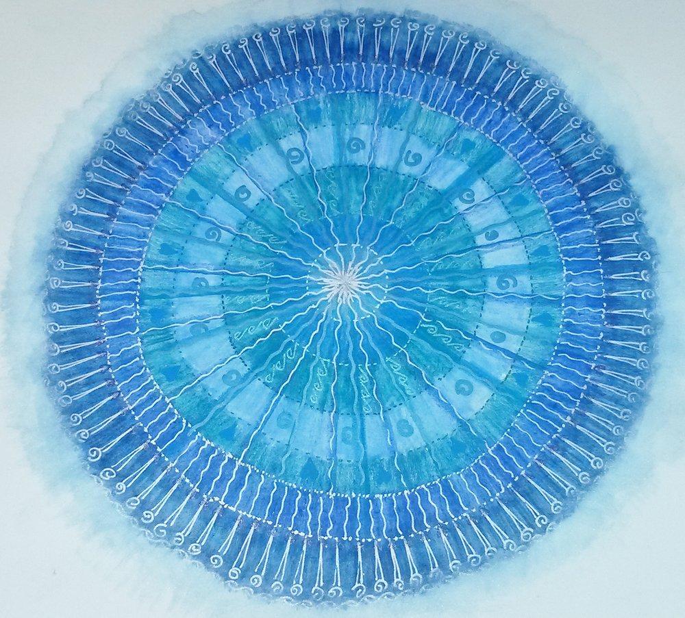 A free form mandala