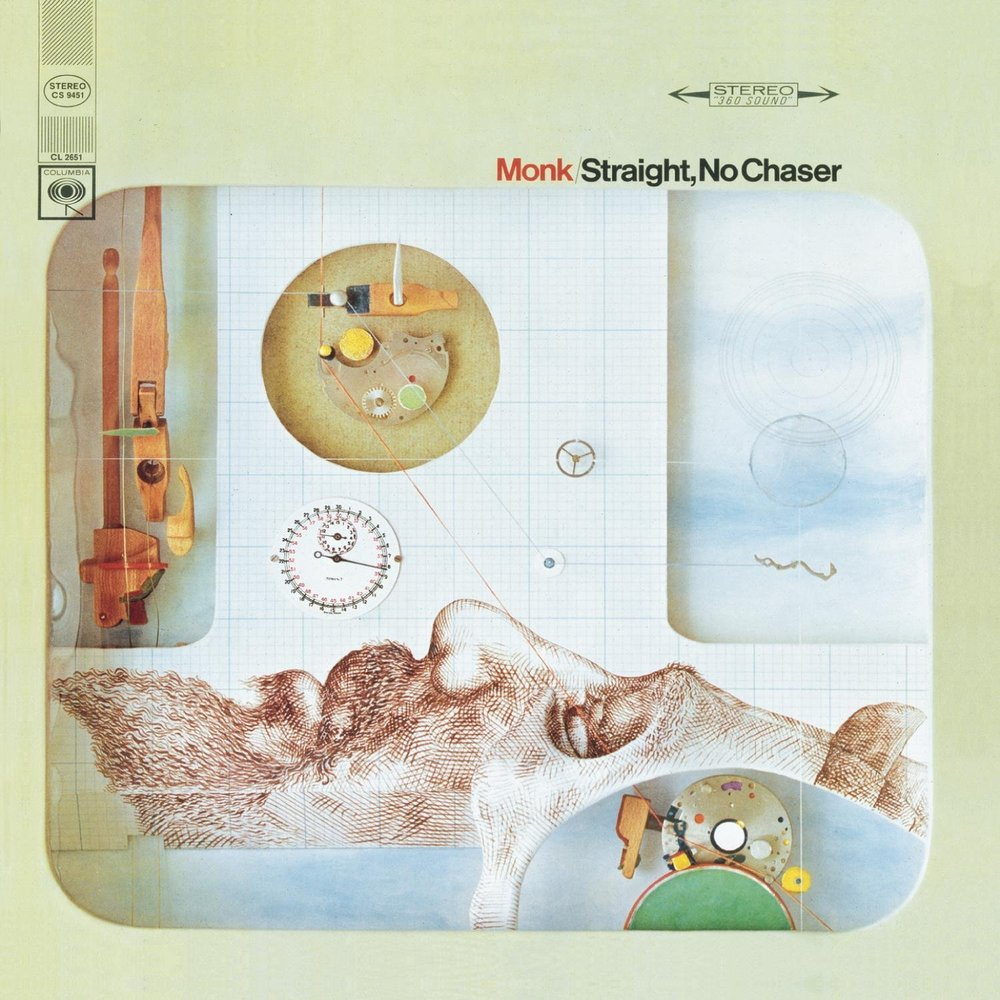 """Straight, No Chaser - By Theolonius Monk, 1967Monk had schizophrenia, and while this disease tormented him in life, it helped to create some brilliant music. He thought he could hear notes that weren't even on the piano, so he would play two chords next to each other to play the note that wasn't there. This album is primarily piano, and there is just as much music in the silence as in the notes. If you only listen to one song from this entire article, I recommend """"Locomotive."""" The drums, saxophone, and piano blend perfectly to create a fast-paced masterpiece."""
