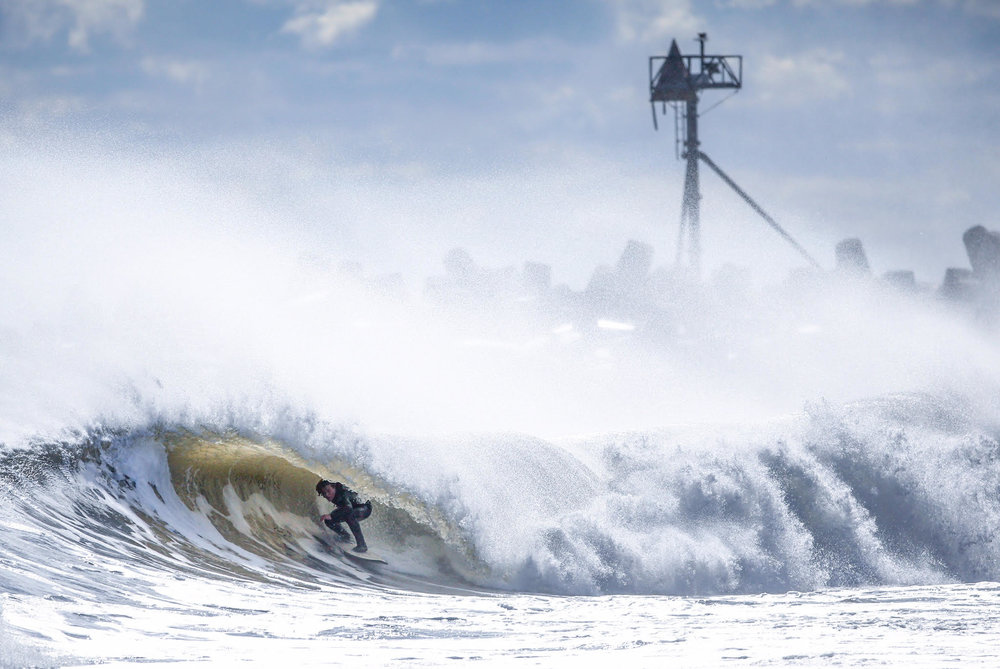Kelly Slater, an eleven time surfing world champion, hopped on a plane to New Jersey for this, it was that good. Andrew Mills captured this photo of me deep inside one of these prized Jersey kegs.