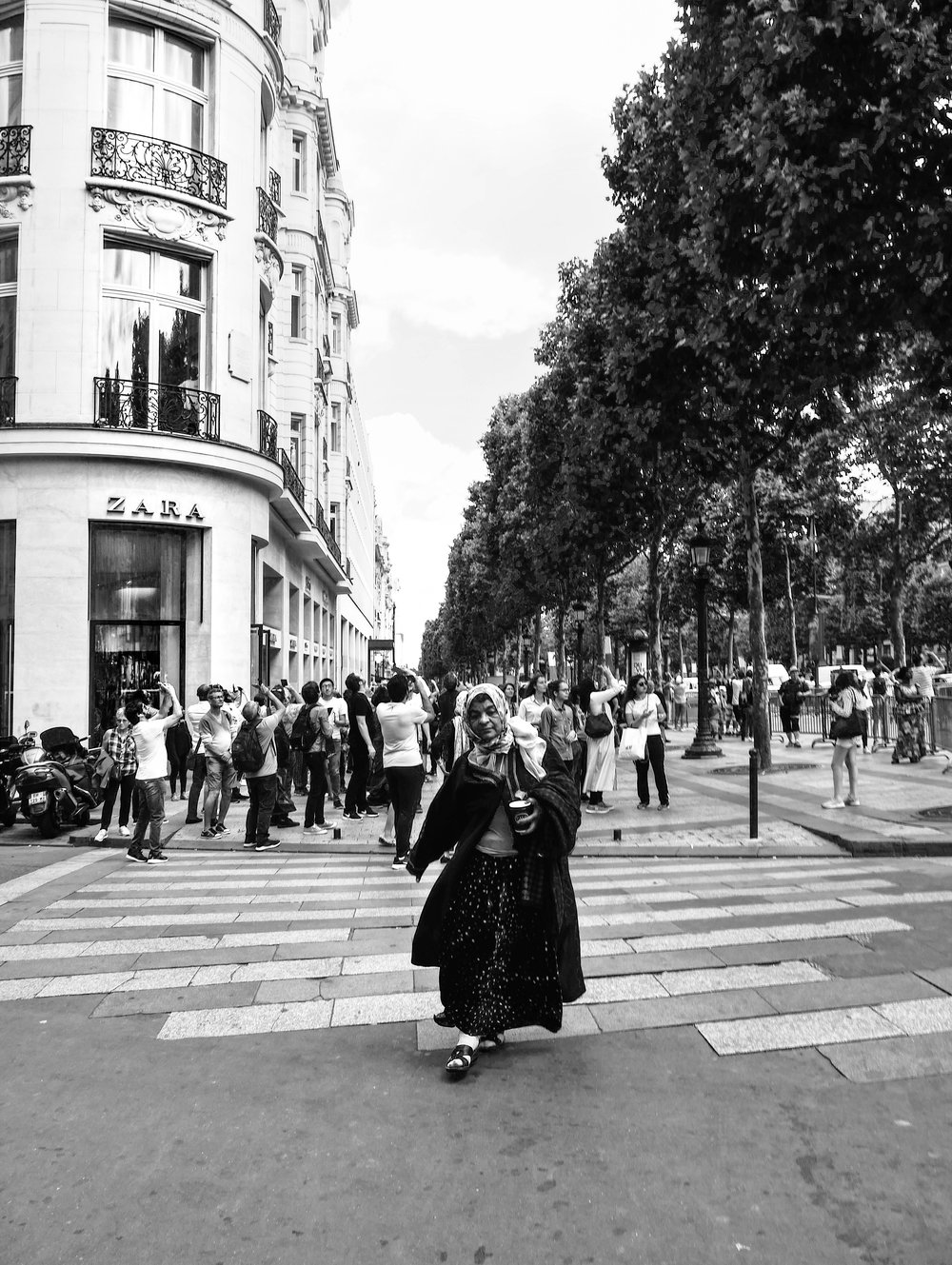 F_DBenstock_Woman on the Champs-Élysées.jpg