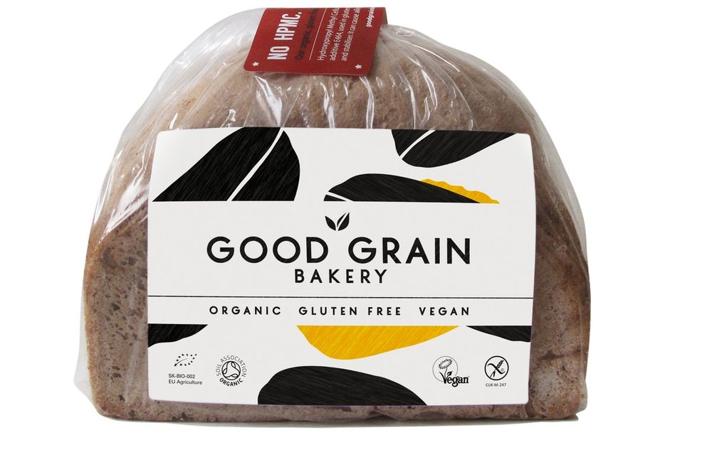 Good Grain Bakery ensures its breads are vegan, gluten-free, but also free from commonly used chemicals and E numbers.