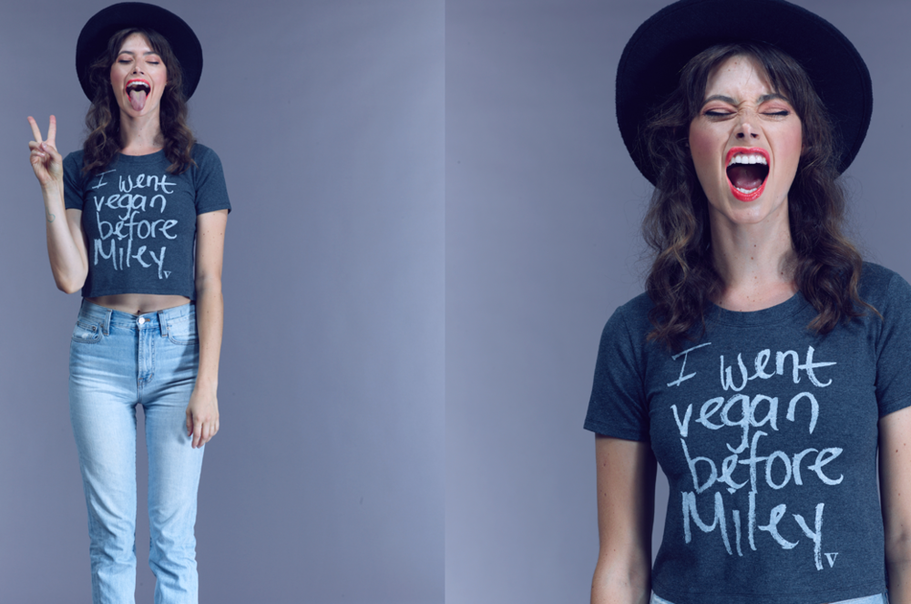 Vaute Couture is also famous for its tongue-in-cheek organic cotton tshirts.
