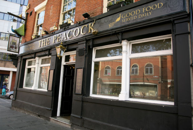 From its exterior and decor, The Peacock is another good old English pub. It's the menu that's upended the model...