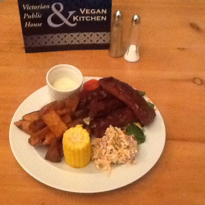 A recent addition to their menu has been vegan spare ribs!
