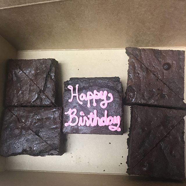 Have a celebration coming up?? Contact us to place an order.  #whippedandfrostedboutique #brownies #cookies #happybirthday #partydesserts #pastries #sweets #dessert #minipastries #newlenoxillinios #jolietillinois