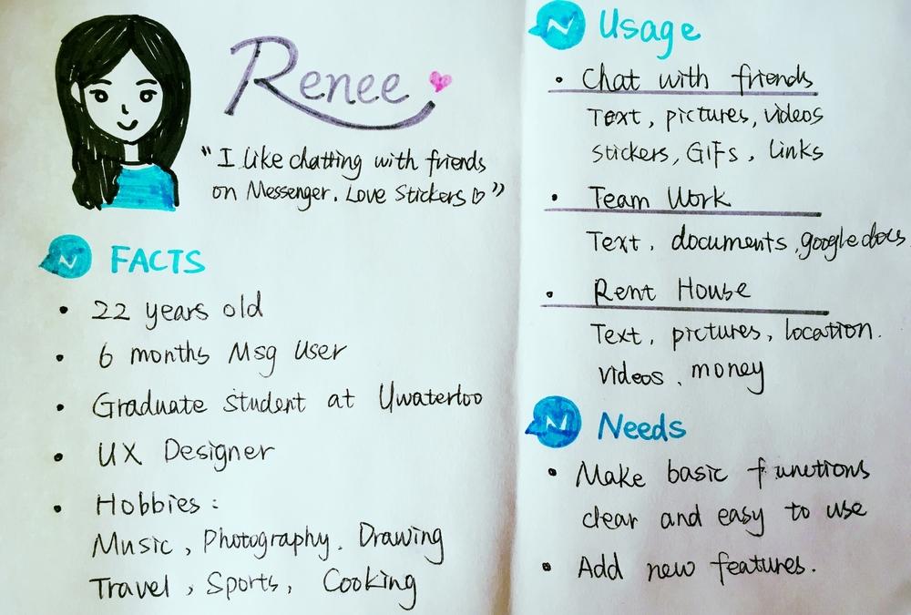Renee, me, my persona