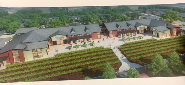 THIS LONG STRIP-MALL CONFIGURATION WITH 2 1 7 Parking SPACES, AND 22 APARTMENTS ON THE 2ND FLOOR DOES NOT FOLLOW THE VISION OUTLINED IN THE HECKER PASS SPECIFIC PLAN, and may set an ugly precedent for shopping centers built up along the bucolic Hecker Pass regioN.