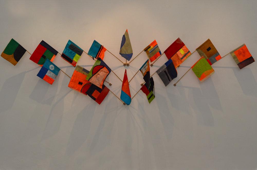 Pam Longobardi,  Signal Flags , 2017.
