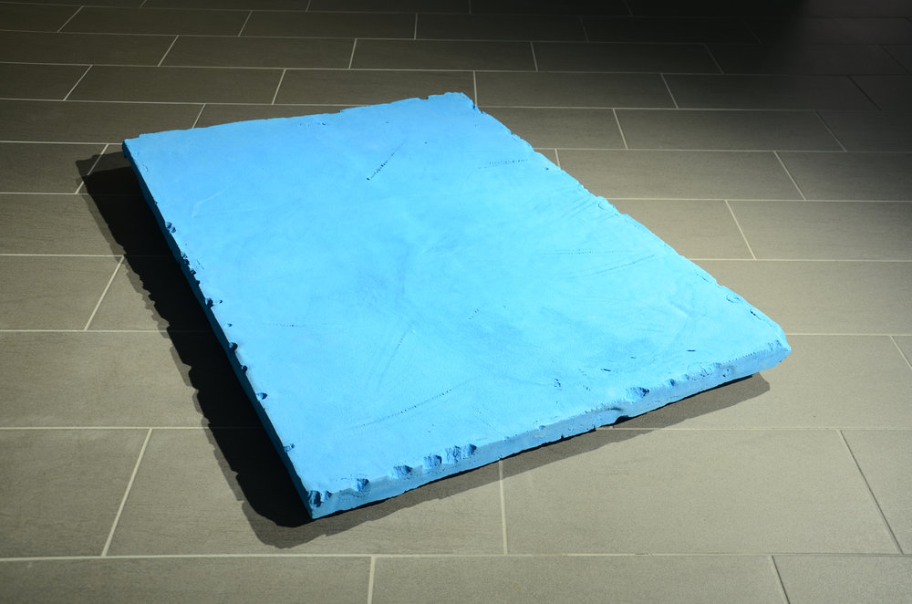 Alexander Duncan   like swimming (big blue)   2015   concrete, pigment  1430 x 955 x 60mm