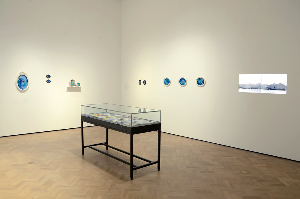 Shiraz Bayjoo  Installation view   These Waters Have Stories To Tell   Glynn Vivian Art Gallery, Swansea, UK  2018