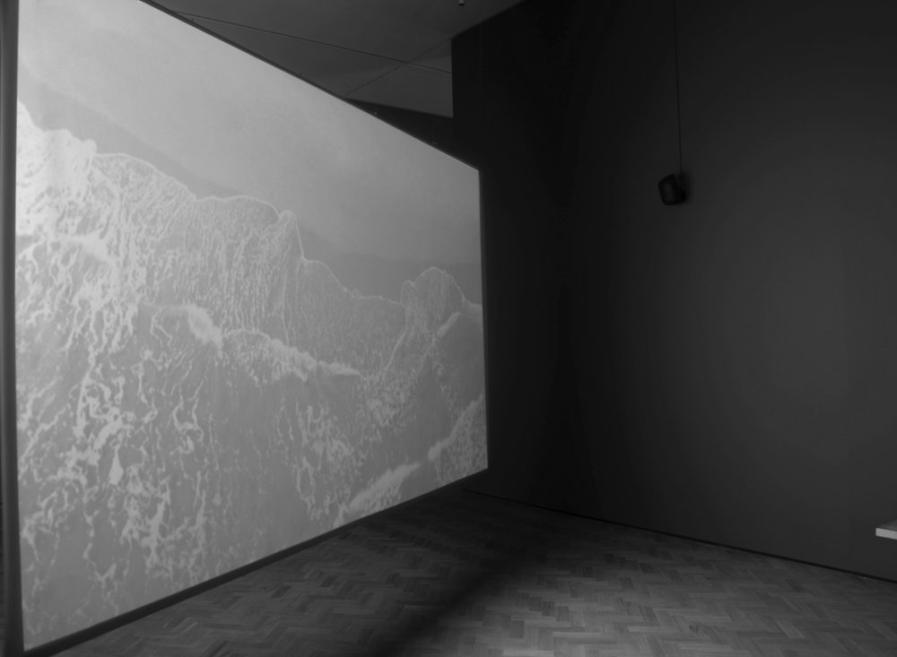 Julia Davis   Undercurrent , 2017  Still image, 4K Video, stereo sound, 11:00 minutes endless loop  Installation view,  These Waters