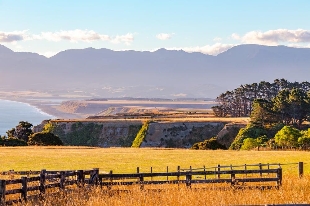 Farmland near Pirinoa, outside of Wellington.