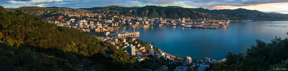 Panorama of Wellington City, the Capital of New Zealand. Probably my favorite city in the world. I hope to come back someday. Tiffany and I lived just to the left behind the hill for about 6 months on Cuba Street, this image brings back so many good memories.