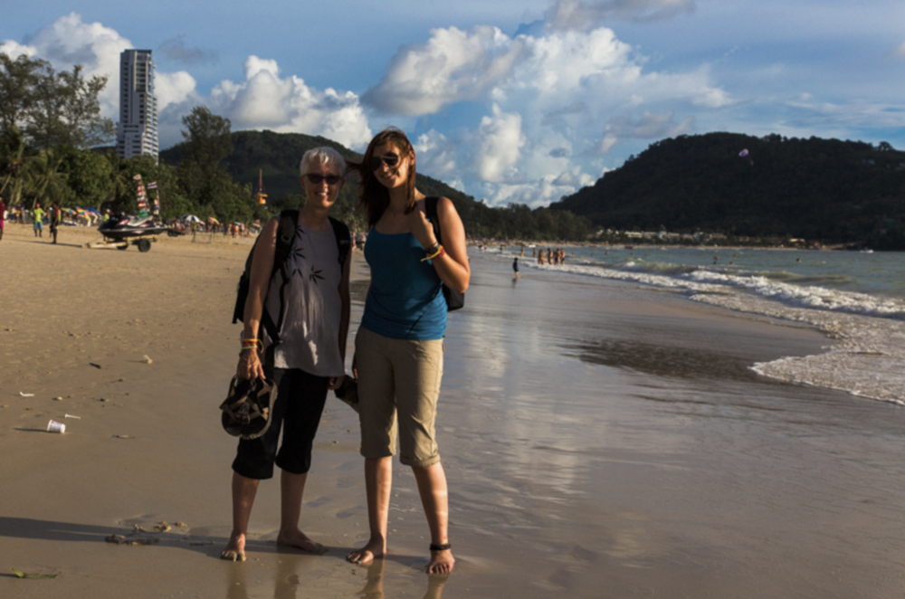 Mom & Tiffany at Patong Beach, Phuket