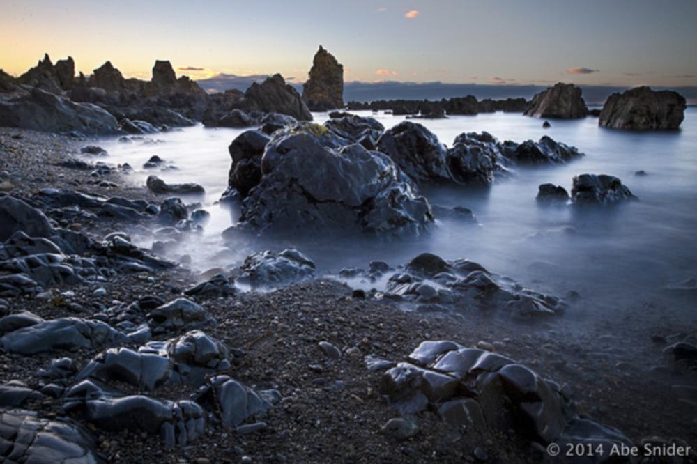 Moa Point at Sunrise.
