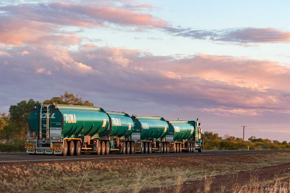 A midsize road train.