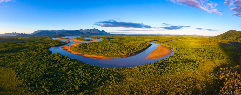 Pretty great view from the drone between Townsville and Cairns. I don't even want to think about how many crocodiles are down there.